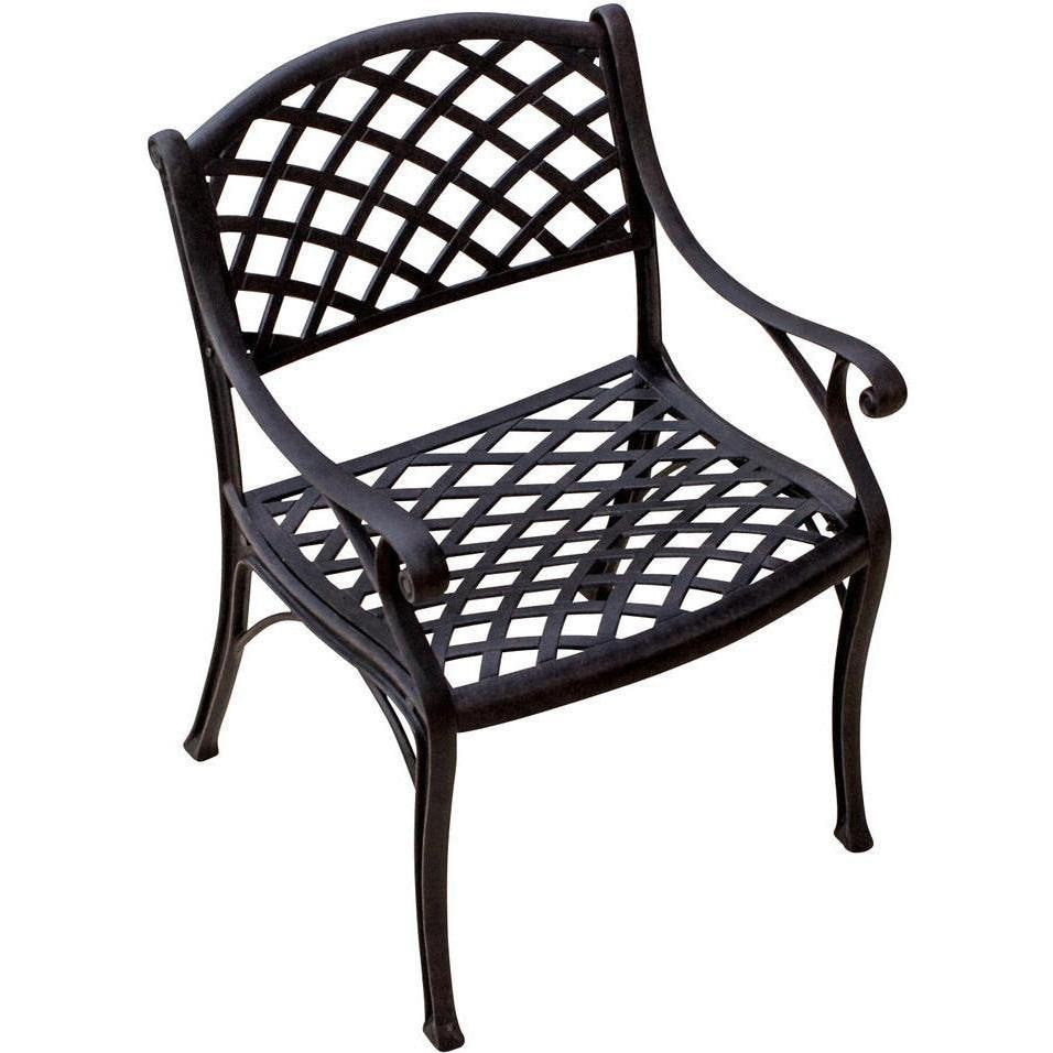 Heritage cast aluminum patio dining chair by lakeview for Aluminum patio chairs