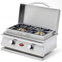 Cal Flame Deluxe Double Side By Side Built-In Natural Gas Side Burner (Ships As Propane With Conversion Fittings) - BBQ14954N image
