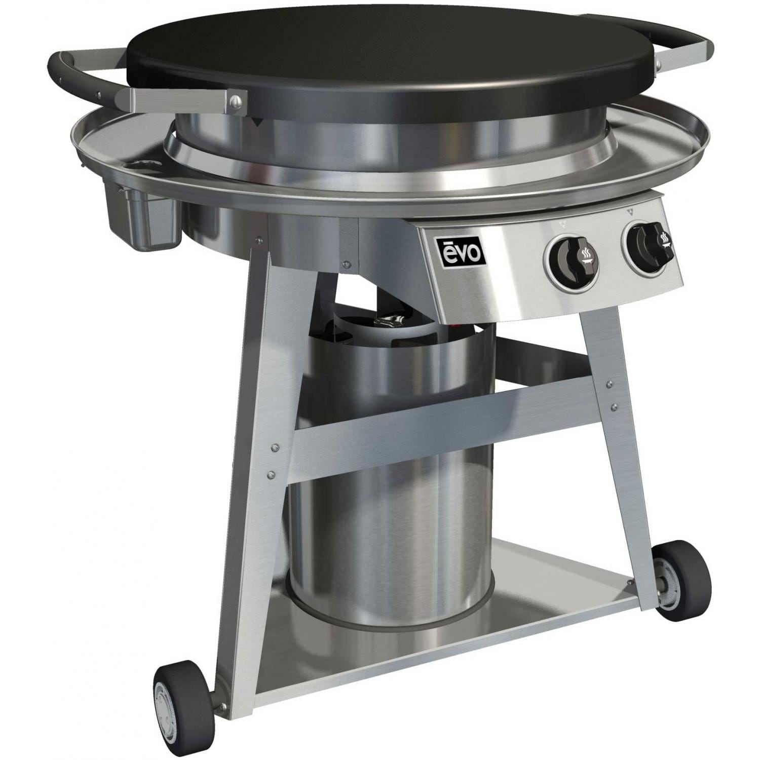 Evo Professional Classic Wheeled Cart Flattop Propane Gas Grill