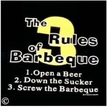 3 Rules Of Barbeque Apron image