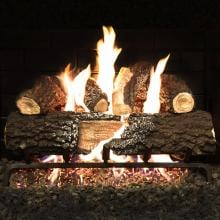 Alpine Flame 24-Inch Charred Canyon Fire Vented Gas Log Set