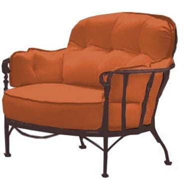 Meadowcraft Athens Wrought Iron Deep Seating Patio Cuddle Chair   Flagship  Persimmon