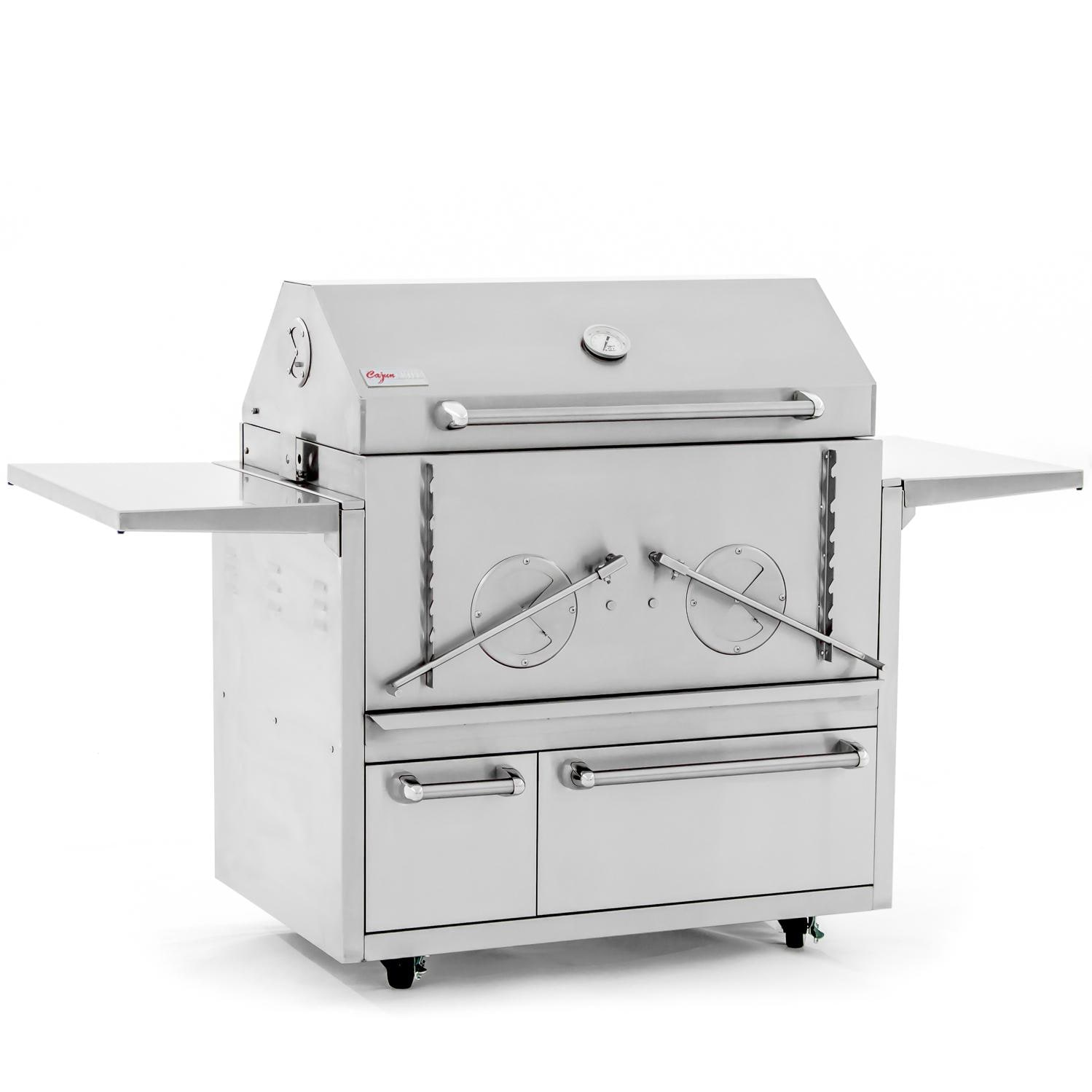 Cajun Grill  Preaux 36 inch Stainless Steel Charcoal Grill - PGI-900 + 900CART