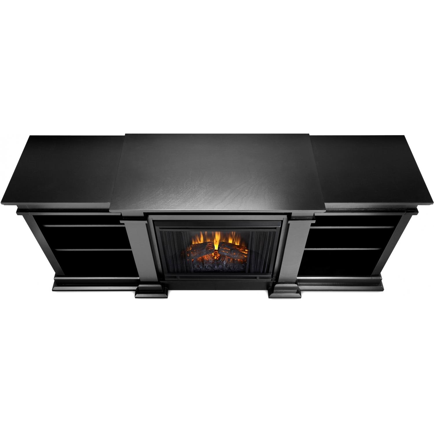 Real Flame Fresno 71 Inch Electric Fireplace Media Console Black Gas Log Guys