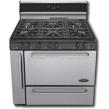 Premier Pro Series P36S148BP 36 Inch Gas Range With Electronic Ignition And 6 Open Burners 10 Inch Back-guard With Timer - Stainless Steel