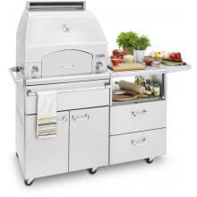 Lynx Professional Napoli 30-Inch Freestanding Propane Gas Outdoor Pizza Oven On Mobile Kitchen Cart - LPZAF-LP Lynx Napoli Freestanding Pizza Oven - Full View