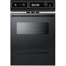 Summit 24-Inch Built-In Electric Single Wall Oven - Black - TEM721DK