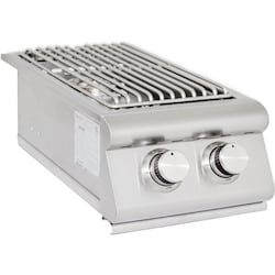 Blaze Built-In Natural Gas Stainless Steel Double Side Burner With Lid - BLZ-SB2R-NG