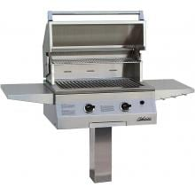 Solaire Gas Grills 27 Inch Basic All Convection Natural Gas Grill On In-Ground Post