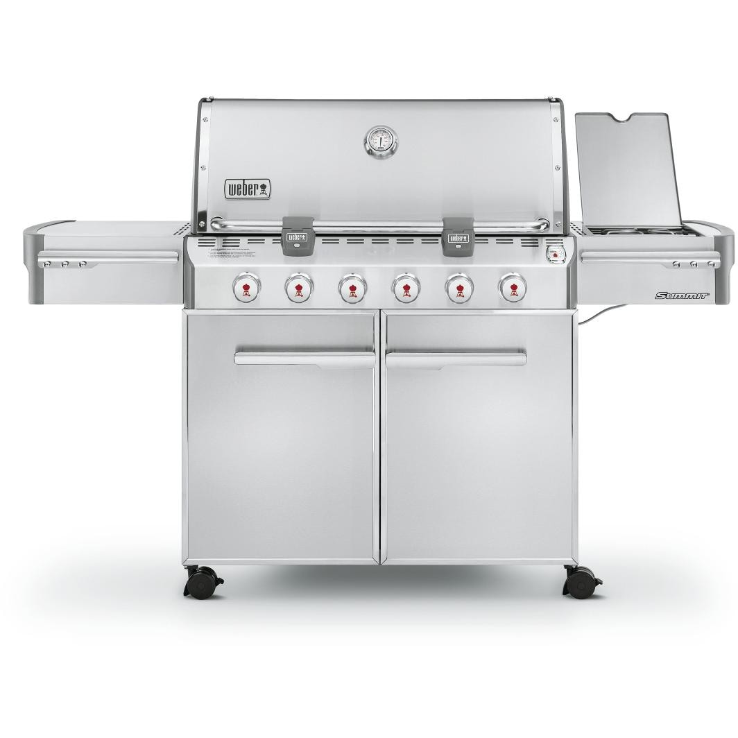 weber summit s 620 propane gas grill on cart with side burner. Black Bedroom Furniture Sets. Home Design Ideas