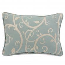 Sunbrella Cabaret Blue Haze Outdoor Throw Pillow W/ Piping By Lakeview Outdoor Designs - 13 X 18 image