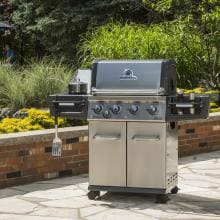 Broil King Regal S440 Pro 4-Burner Freestanding Natural Gas Grill With Side Burner - Stainless Steel Broil King Regal S440 Pro 4-Burner Freestanding Gas Grill - On the Patio