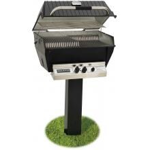 Broilmaster P3-XFN Premium Natural Gas Grill On Black In-Ground Post Broilmaster P3-XF Premium Gas Grill On Black In-Ground Post