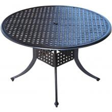 60-Inch Cast Aluminum Patio Dining Table By Lakeview Outdoor Designs