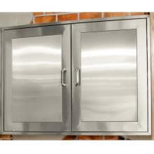 BBQGuys.com Kingston Panel Series 49-Inch Stainless Steel Enclosed Cabinet Storage image