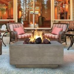 Prism Hardscapes Tavola III 48-Inch Propane Square Fire Pit Table - Pewter - PH-407-4LP image