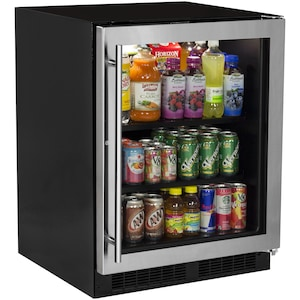 Marvel 24-Inch ADA Compliant Beverage Center With Stainless Frame Glass Door - MARE124SG31A image