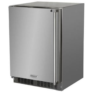Marvel 24-Inch 6.54 Cu. Ft. Left Hinge Outdoor Rated Compact Refrigerator - MO24RAS1LS image