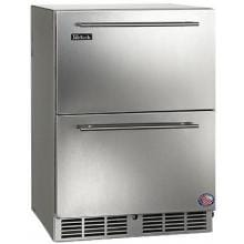 Perlick C-Series 5.2 Cu. Ft. Built-In Outdoor Refrigerator Drawers - Stainless Steel - HC24RO-3-5
