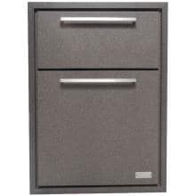 Sunset Bay Outdoor 17-Inch Powder Coated Aluminum Double Enclosed Drawer With Bug-N-Dust Cover - Brown Speckle - DDR.17C image