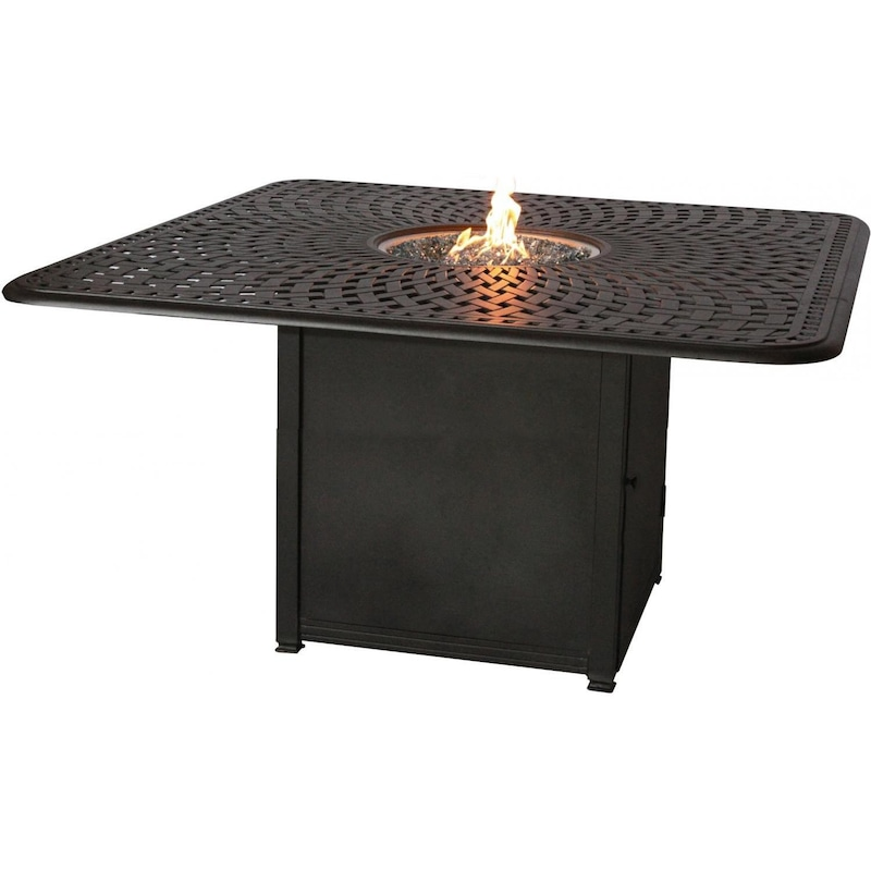 Signature 64 X 64 Inch Propane Fire Pit Dining Table By