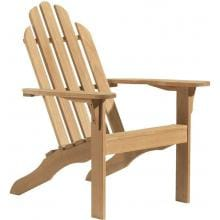 Oxford Garden Adirondack Wood Patio Lounge Chair