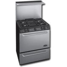 Premier Pro Series P30S330BP 30 Inch Gas Range With Electronic Ignition And Sealed Burners 20 Inch Stainless Back-guard - Stainless Steel
