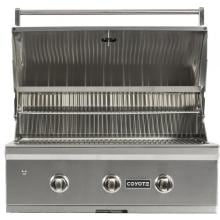 Coyote C-Series 34-Inch 3-Burner Built-In Natural Gas Grill - C1C34NG Coyote C-Series 34-Inch Built-In Gas Grill - Hood Open