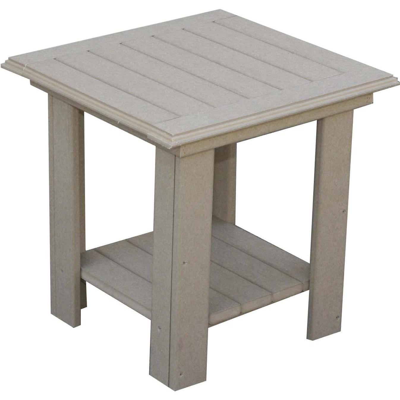 Eagle one adirondack 2 person recycled plastic patio for Adirondack side table plans