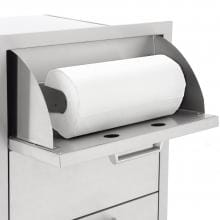 BBQGuys.com Sonoma Series 20-Inch Stainless Steel Double Access Drawer With Paper Towel Dispenser BBQGuys.com Sonoma Series 20-Inch Double Access Drawer - Paper Towel Dispenser Closeup