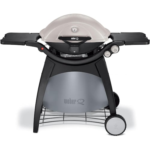 weber q 320 propane gas bbq grill on cart. Black Bedroom Furniture Sets. Home Design Ideas