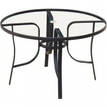 48-Inch Round Patio Dining Table With Glass Top By Lakeview Outdoor Designs image