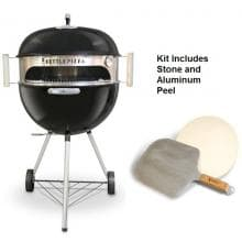 KettlePizza KPDU-22 Deluxe USA Pizza Oven Kit KettlePizza KPDU-22 Deluxe Pizza Oven Kit - Full View (Shown With Grill - Not Included)