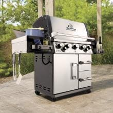 Broil King Imperial 590 5-Burner Freestanding Propane Gas Grill With Rotisserie & Side Burner - Stainless Steel Broil King Imperial 590 5-Burner Freestanding Gas Grill - On the Patio