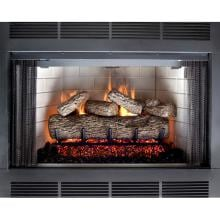 Peterson Real Fyre 30-Inch Live Oak Gas Log Set With Vented G4 Burner Peterson Real Fyre Live Oak Log In Fireplace Setting