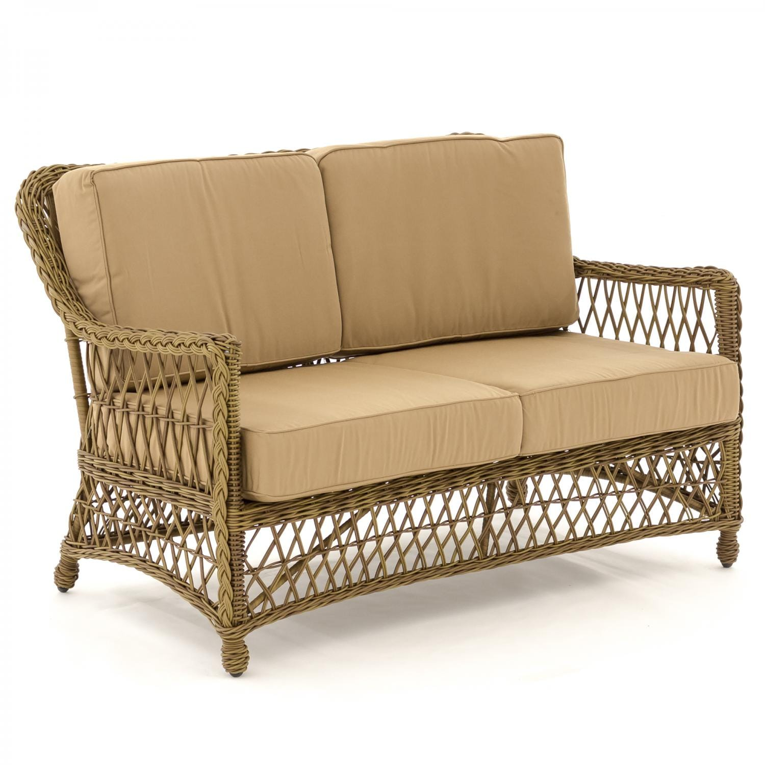 Superbe Everglades Honey Resin Wicker Patio Loveseat By Lakeview Outdoor Designs