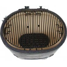 Primo Ceramic Charcoal Smoker Grill - Oval XL Primo Oval XL Porcelain-Coated Cooking Grates