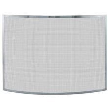 UniFlame 41-Inch Curved Pewter Fireplace Screen - S-1613