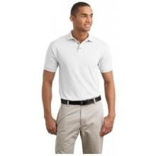 Jerzees 5.6-Ounce Jersey Knit Polo Shirt Large - White