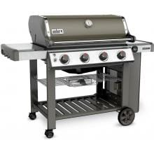 Weber Genesis II E-410 Freestanding Propane Gas Grill - Smoke Weber Genesis II E-410 Freestanding Propane Gas Grill - Left Angled View
