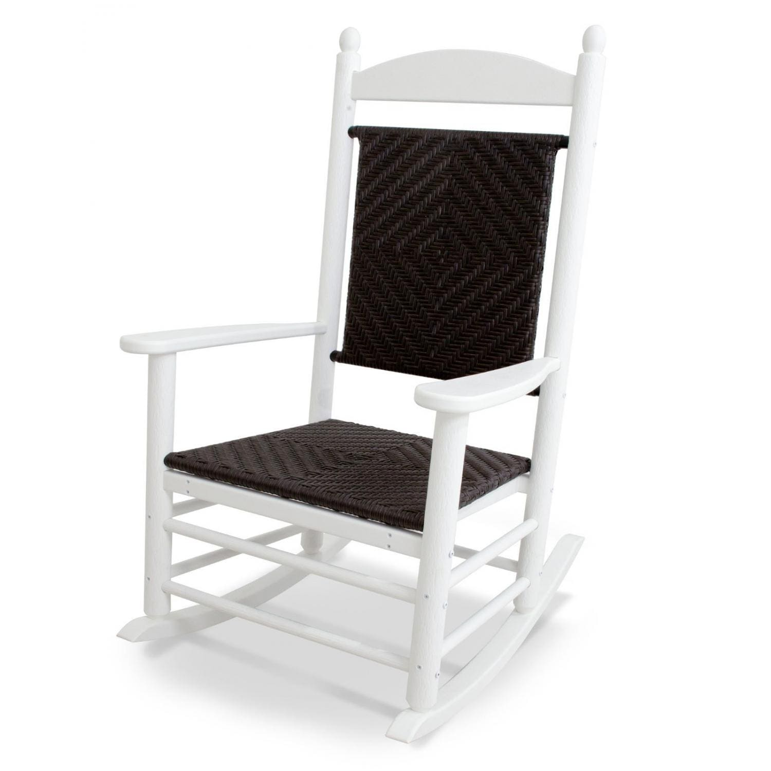 Video. Jefferson Recycled Plastic Wood Woven Patio Rocking Chair ...