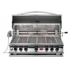 Cal Flame 40-Inch 5-Burner Convection Built-In Natural Gas BBQ Grill With Rotisserie (Ships As Propane With Conversion Fittings) - BBQ15875CN Cal Flame 5 Burner Convection Built In Natural Gas Grill