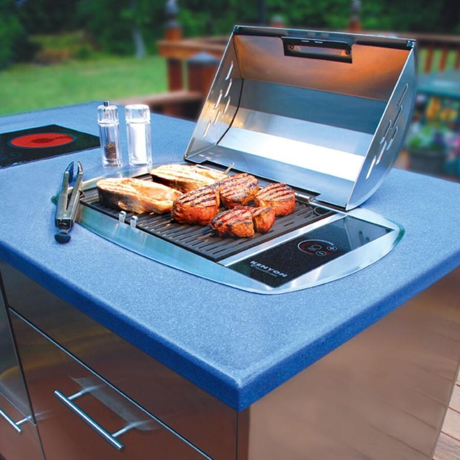 Kenyon All Seasons Rio Built In Electric Grill Lifestyle View