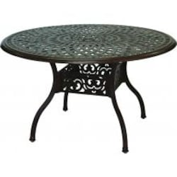 Darlee Series 60 59 Inch Cast Aluminum Patio Dining Table - Antique Bronze image