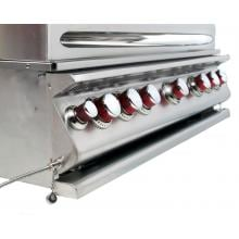 Cal Flame 40-Inch 5-Burner Convection Built-In Propane Gas BBQ Grill With Rotisserie - BBQ15875CP Cal Flame Gas Grills 40 Inch 5 Burner Convection Gas Grill - Left Side View of Control Panel