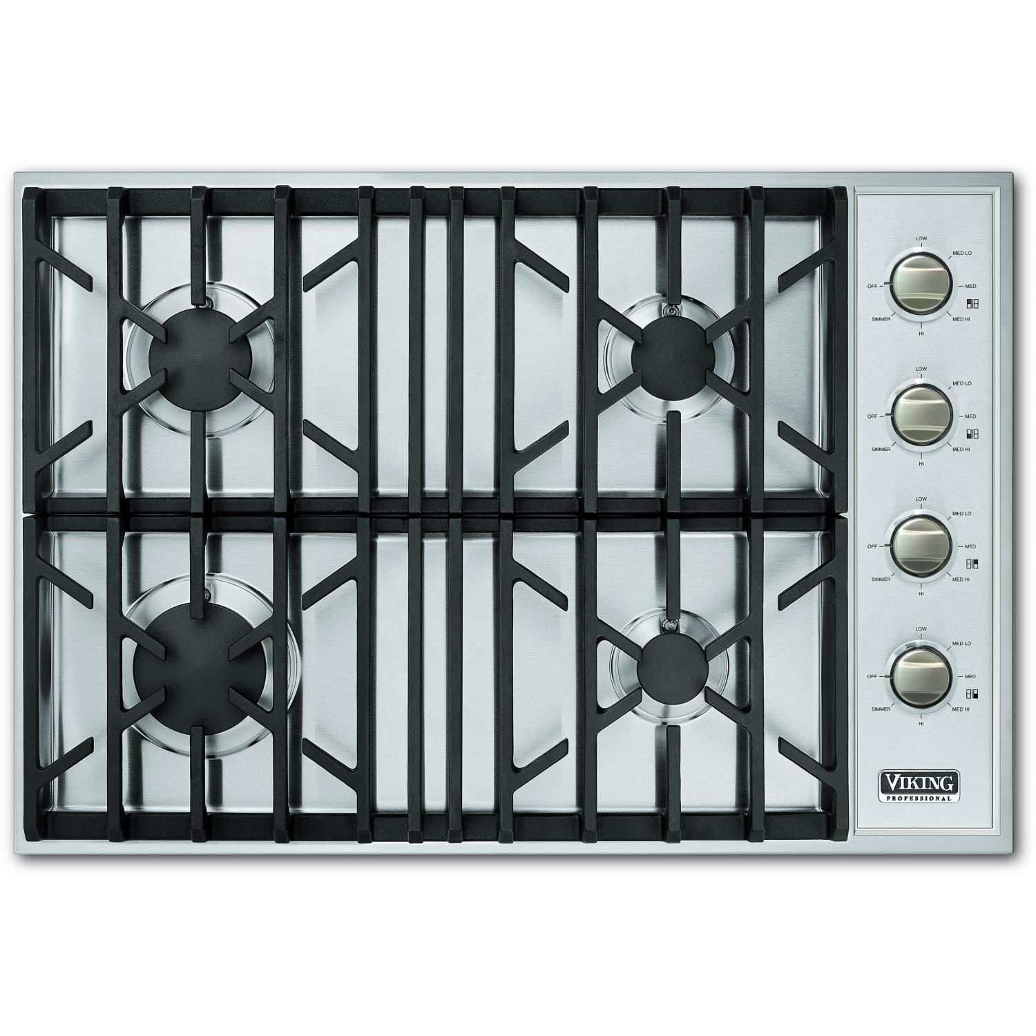 viking vgsu1044b 30inch pro series gas cooktop stainless steel
