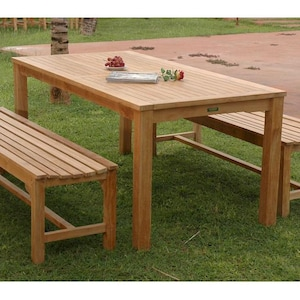 Anderson Teak Bahama 3 Piece Teak Patio Dining Set With Bench Seating image