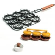 18-Inch 3-Piece Deluxe Mini Burger Sliders Grilling Set