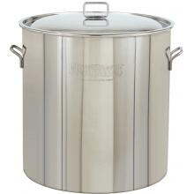 Bayou Classic Pots With Vented Lid 102 Quart Stainless Steel Stock Pot With Vented Lid image
