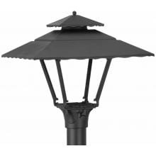 American Gas Lamp Works GL1800 Cast Aluminum Manual Ignition Natural Gas Light With Open Flame Burner For Post Mount